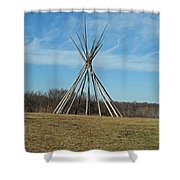 Tee Pee Shower Curtain