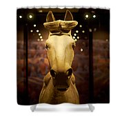 Terracotta Soldiers. The Horse Shower Curtain