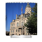 Terre Haute Indiana - Courthouse Shower Curtain