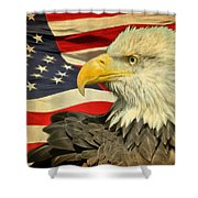 The American Eagle Shower Curtain