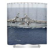The Amphibious Assault Ship Uss Essex Shower Curtain