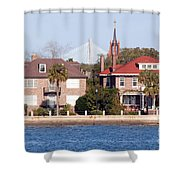 The Battery Shower Curtain