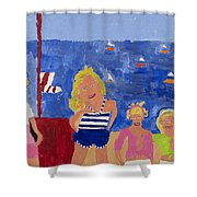 The Beach Girls Shower Curtain