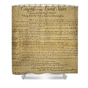 The Bill Of Rights, 1789 Shower Curtain