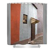 The Brown Door Shower Curtain
