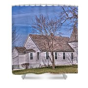 The Church At The Site Of The Old Confederate Soldiers Home Shower Curtain