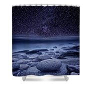 The Cosmos Shower Curtain by Jorge Maia