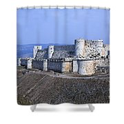 The Crusader Castle Krak Des Chevaliers Syria Shower Curtain