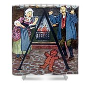 The Gingerbread Boy Shower Curtain