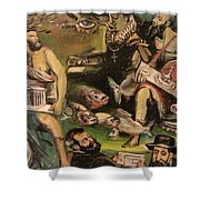The Great Deluge Shower Curtain