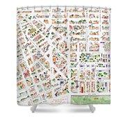 The Greenwich Village Map Shower Curtain