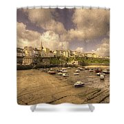 The Harbour At Tenby  Shower Curtain