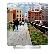 The High Line Urban Park New York Citiy Shower Curtain