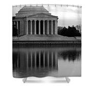 The Jefferson Memorial Shower Curtain by Cora Wandel