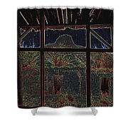 The Lonely Trail Homage 1936 Cabezon Peak Ghost Town Cabezon New Mexico 1971 Shower Curtain