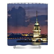 The Maiden's Tower Shower Curtain