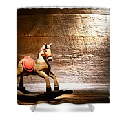 The Old Rocking Horse In The Attic Shower Curtain