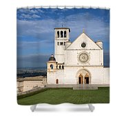 The Papal Basilica Of St. Francis Of Assisi  Shower Curtain