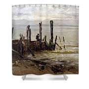 The Sea At Villerville Shower Curtain