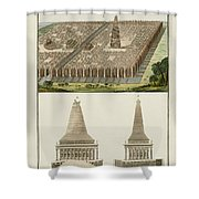 The Seven Wonders Of The World Shower Curtain