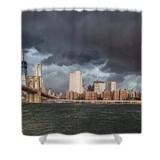 The Storm Over Manhattan Shower Curtain