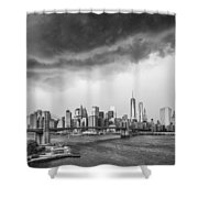 The Storm Over Manhattan Downtown Shower Curtain