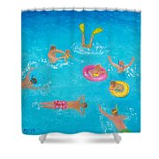 The Swimmers Shower Curtain