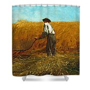 The Veteran In A New Field Shower Curtain