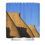The Walls Of The Ark At Bukhara In Uzbekistan Shower Curtain