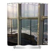 Through Lighthouse Window  Shower Curtain