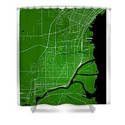 Thunder Bay Street Map - Thunder Bay Canada Road Map Art On Colo Shower Curtain