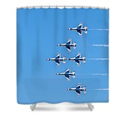 Thunderbirds And Blue Sky  Shower Curtain