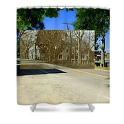 Thursday Thrift Shop And The Commons In Little Compton Rhode Island Shower Curtain