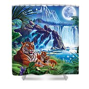 Tiger Moon Shower Curtain