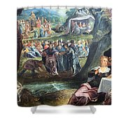 Tintoretto's The Worship Of The Golden Calf Shower Curtain