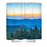Top Of Mount Mitchell Before Sunset Shower Curtain