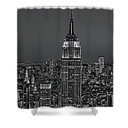 Top Of The Rock Bw Shower Curtain