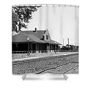 Toppenish Train Station Shower Curtain