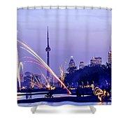 Toronto Fireworks Shower Curtain