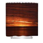 Torrey Pines Sunset Shower Curtain