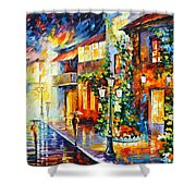 Town From The Dream Shower Curtain