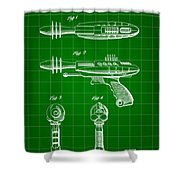 Toy Ray Gun Patent 1952 - Green Shower Curtain