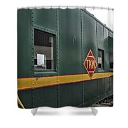 Tpw Rr Caboose Side View Shower Curtain