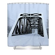 Train Bridge Shower Curtain