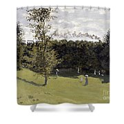 Train In The Countryside Shower Curtain