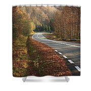 Transfagarasan Road Carpathian Mountains Romania  Shower Curtain
