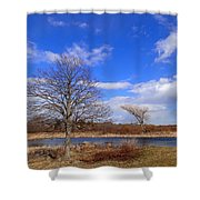 2 Tree Shower Curtain