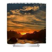 Trinidad Beach Sunset Shower Curtain by Adam Jewell