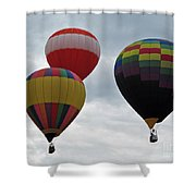 Trio Of Balloons  Shower Curtain