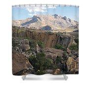 Tsaranoro Mountains Madagascar 1 Shower Curtain